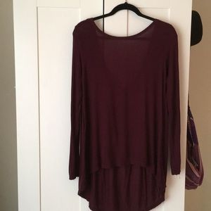 Long sleeve maroon shirt - small
